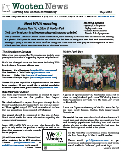 WootenNews May 2018